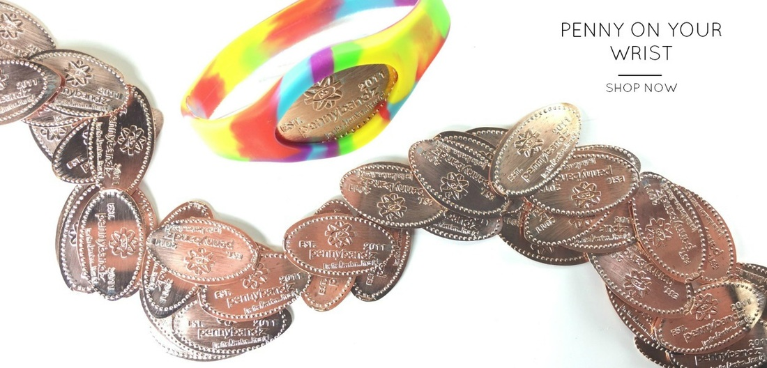 Pennybandz pressed pennies elongated coins wristband