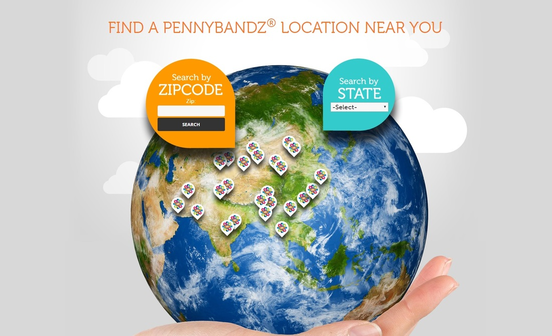 Find Pennybandz pressed penny locatiion